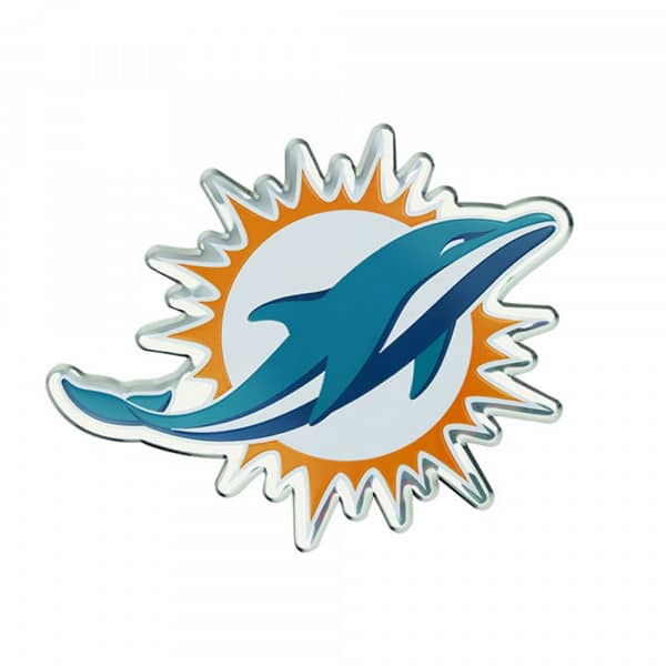 Miami Dolphins Aluminium Color NFL Team Emblem