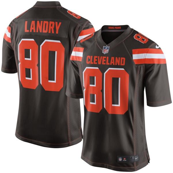 Jarvis Landry #80 Cleveland Browns Game Football NFL Trikot Braun