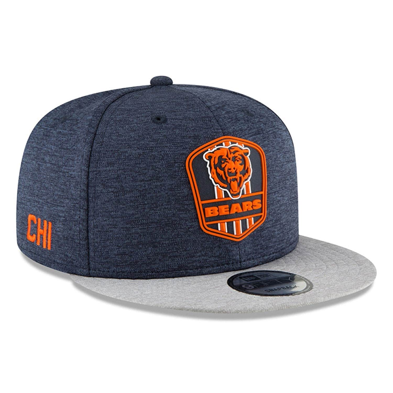 New Era Chicago Bears 2018 NFL Sideline 9FIFTY Snapback Cap Road ... 0191dd4c5dbe