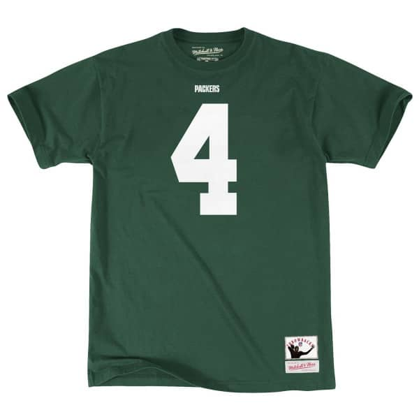 Brett Favre #4 Green Bay Packers Throwback Player NFL T-Shirt