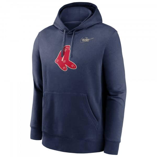 Boston Red Sox Cooperstown Nike Club Fleece MLB Hoodie Navy