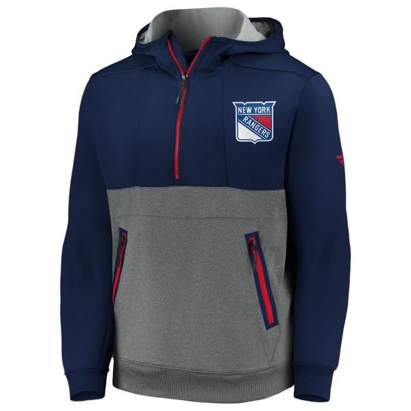 New York Rangers 2020/21 NHL Fanatics Authentic Pro Travel & Training Tech Hoodie