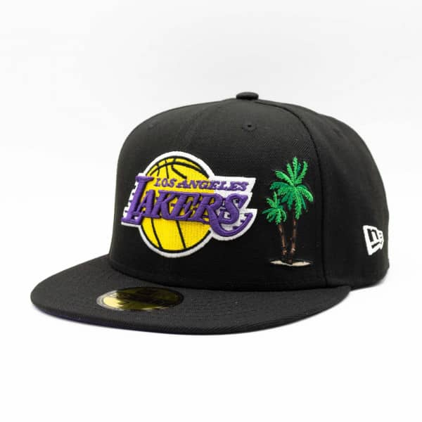 Los Angeles Lakers Palm Tree NBA Champions New Era 59FIFTY Fitted NBA Cap Schwarz