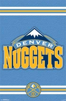 Denver Nuggets Team Logo Basketball NBA Poster RP13763