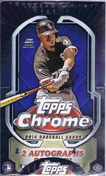 2014 Topps Chrome Baseball Hobby Box MLB