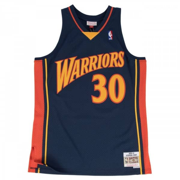 Stephen Curry #30 Golden State Warriors 2009-10 Swingman NBA Trikot Navy