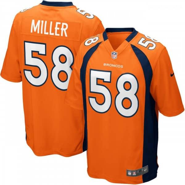 Von Miller #58 Denver Broncos Game Football NFL Trikot Orange