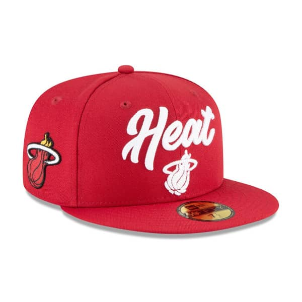 Miami Heat Alternate Authentic 2020 NBA Draft New Era 59FIFTY Fitted Cap