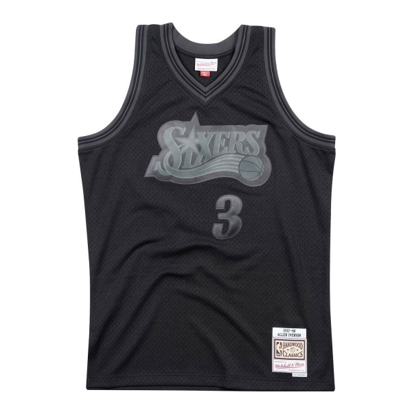 c72a4470e80 Mitchell & Ness Allen Iverson #3 Philadelphia 76ers BACK TO BLACK Swingman  NBA Jersey | TAASS.com Fan Shop