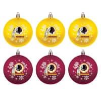 Washington Redskins NFL Weihnachtskugeln Geschenk-Set (6-Teilig)