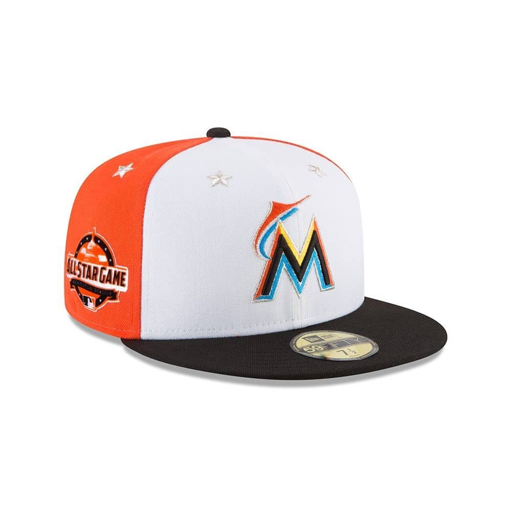 brand new 6c0aa a1e86 New Era Miami Marlins 2018 All Star Game 59FIFTY Fitted MLB Cap   TAASS.com  Fan Shop