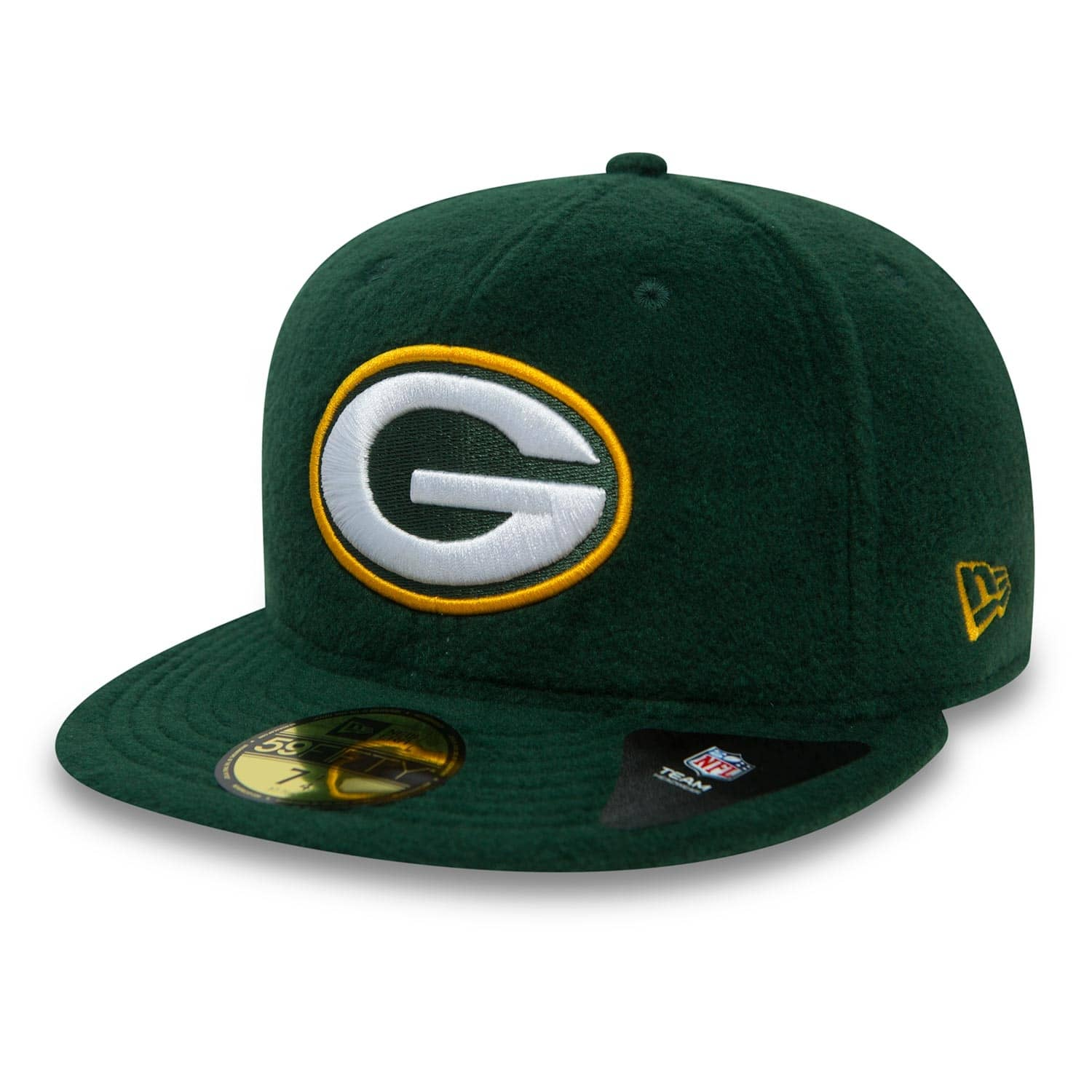 New Era Green Bay Packers Winter Fleece 59FIFTY Fitted NFL Cap ... 8190bf2ae