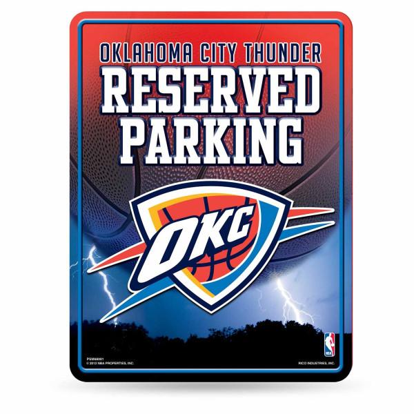 Oklahoma City Thunder Reserved Parking NBA Metallschild