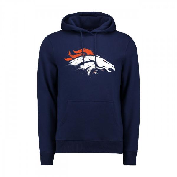 Denver Broncos Splatter NFL Hoodie
