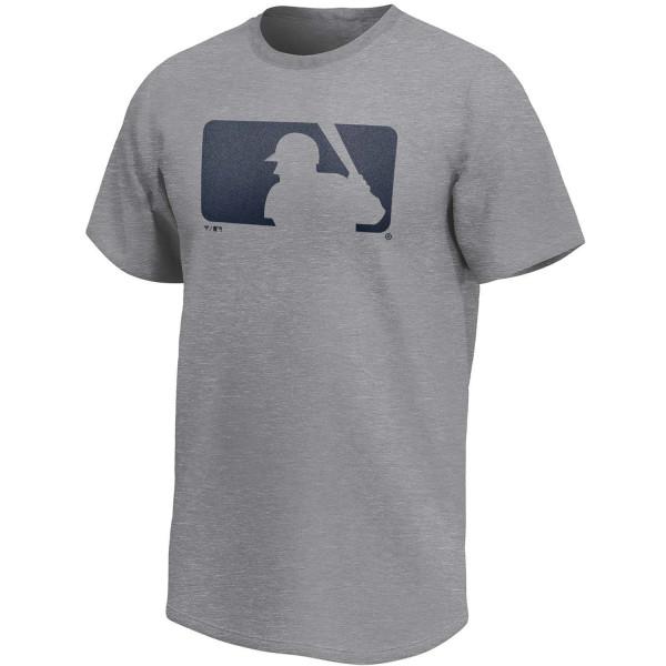 MLB Logo Fanatics Core Baseball T-Shirt Grau