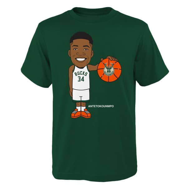 Giannis Antetokounmpo Milwaukee Bucks Geeked Up NBA T-Shirt