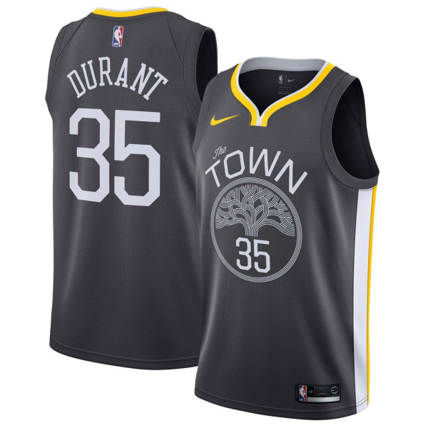 5d8d592b Nike Kevin Durant #35 Golden State Warriors Statement Swingman NBA Jersey  Black | TAASS.com Fan Shop