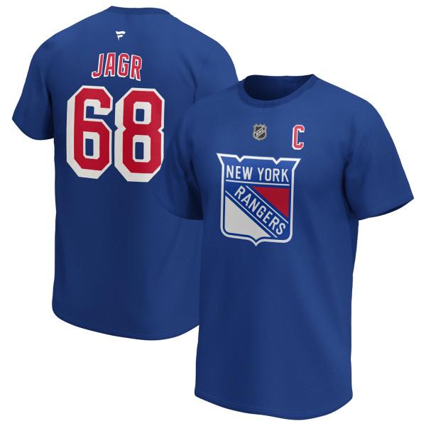 Jaromir Jagr #68 New York Rangers Alumni Fanatics NHL T-Shirt Blau