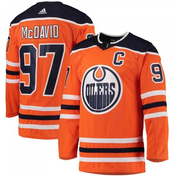 Connor McDavid #97 Edmonton Oilers adidas Authentic Pro NHL Trikot Home