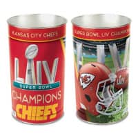 Kansas City Chiefs Super Bowl LIV Champions NFL Papierkorb