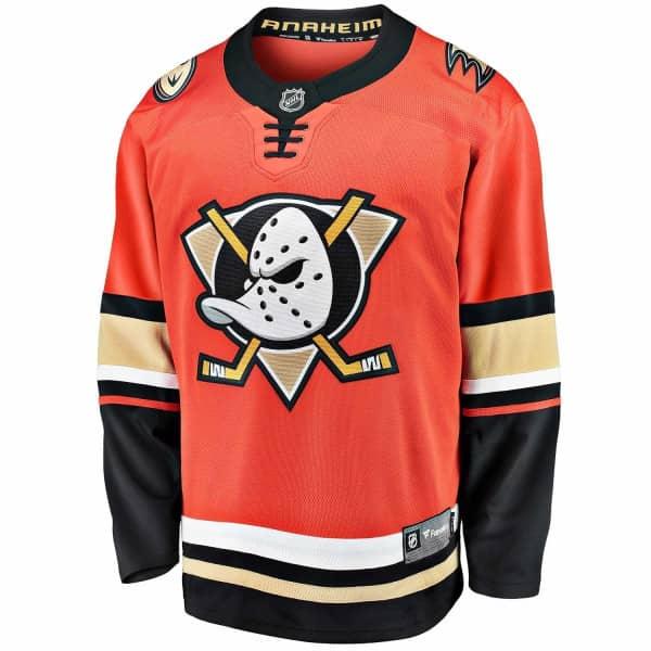 Anaheim Ducks Fanatics Breakaway NHL Trikot Alternate Orange