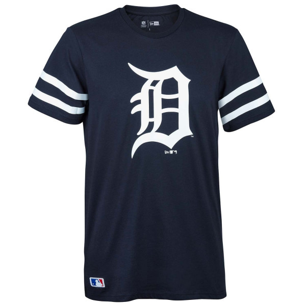 newest collection fa3eb fcd89 New Era Detroit Tigers Team Logo Stripes MLB T-Shirt Navy   TAASS.com Fan  Shop