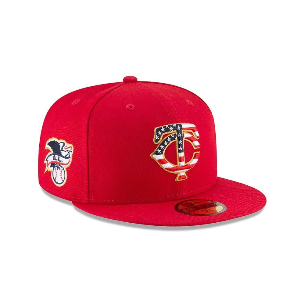 buy popular 47dfa 2a047 New Era Minnesota Twins 4th of July 2018 59FIFTY Fitted MLB Cap   TAASS.com  Fan Shop
