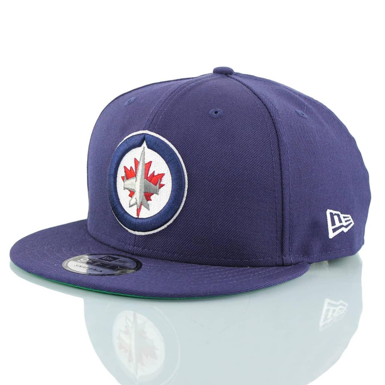 outlet store 9f170 8ea60 New Era Winnipeg Jets Team Logo Snapback NHL Cap Navy   TAASS.com Fan Shop