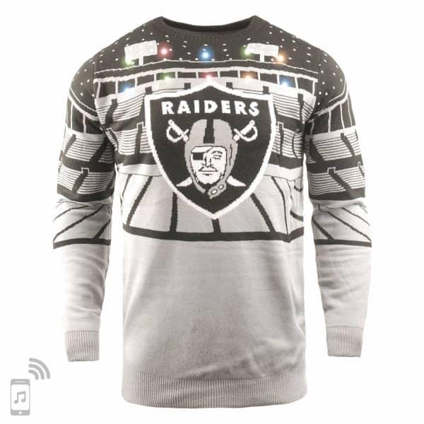 Las Vegas Raiders Light Up Bluetooth NFL Ugly Holiday Sweater