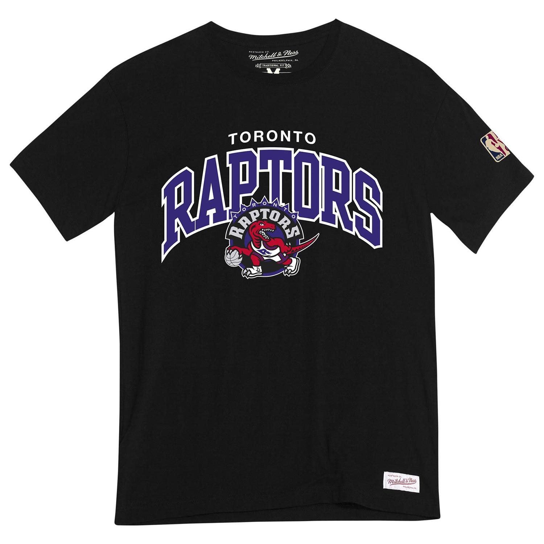 official photos fd162 22d47 Mitchell   Ness Toronto Raptors HWC Arch Logo NBA T-Shirt Black   TAASS.com  Fan Shop