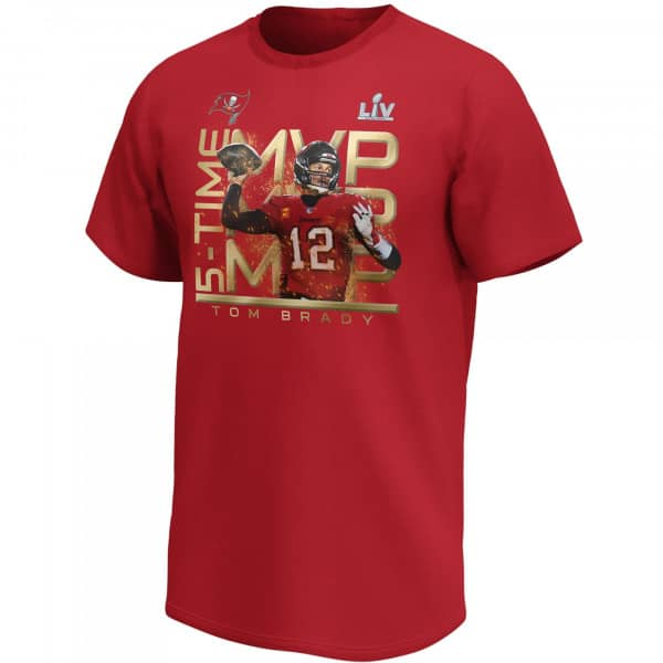 Tom Brady 5x Super Bowl MVP Tampa Bay Buccaneers Fanatics NFL T-Shirt