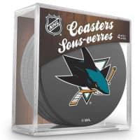 San Jose Sharks NHL Eishockey Puck Untersetzer (4er Set)