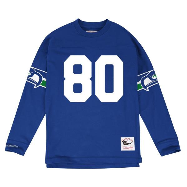 Steve Largent #80 Seattle Seahawks Throwback NFL Long Sleeve Shirt