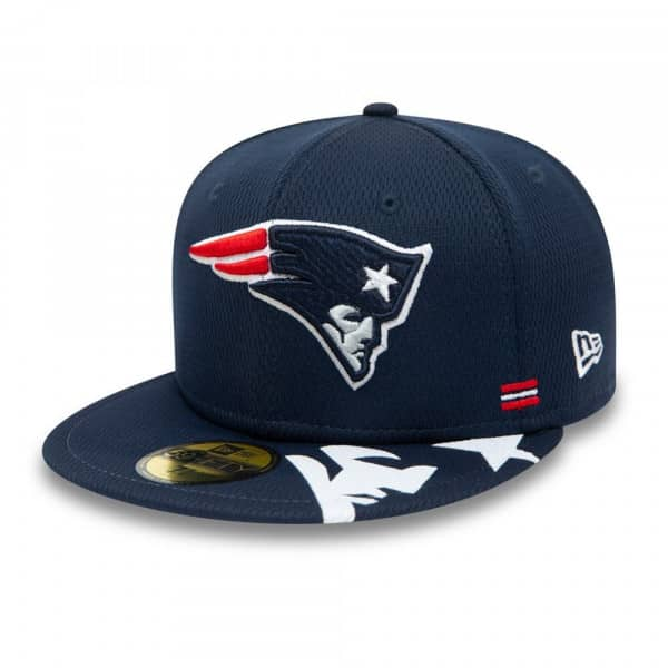 New England Patriots Unofficial 2020 NFL Sideline New Era 59FIFTY Fitted Cap Home