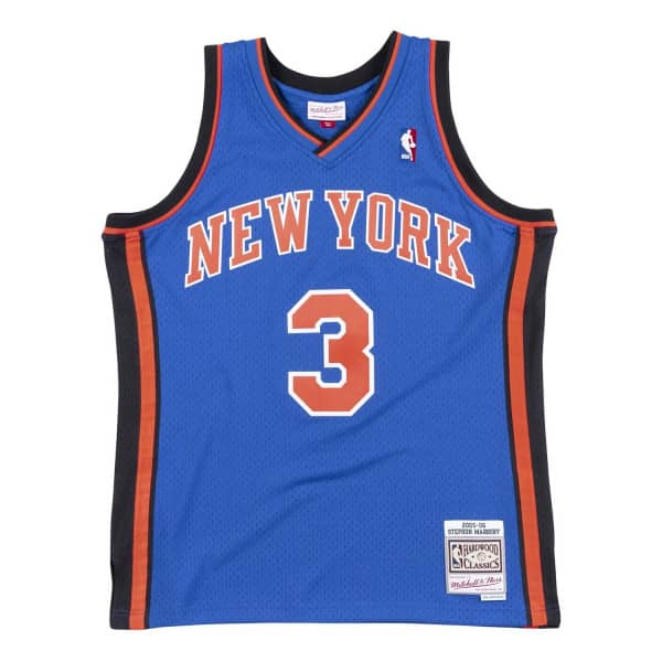 Stephon Marbury #3 New York Knicks 2005-06 Swingman NBA Trikot Blau