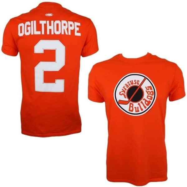 Slapshot Syracuse Bulldogs Ogie Ogilthorpe #2 Eishockey T-Shirt Orange