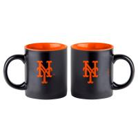 New York Mets Black Matte Jumbo MLB Becher (415 ml)