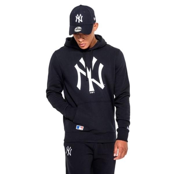 New York Yankees Logo Hoodie MLB Sweatshirt Navy