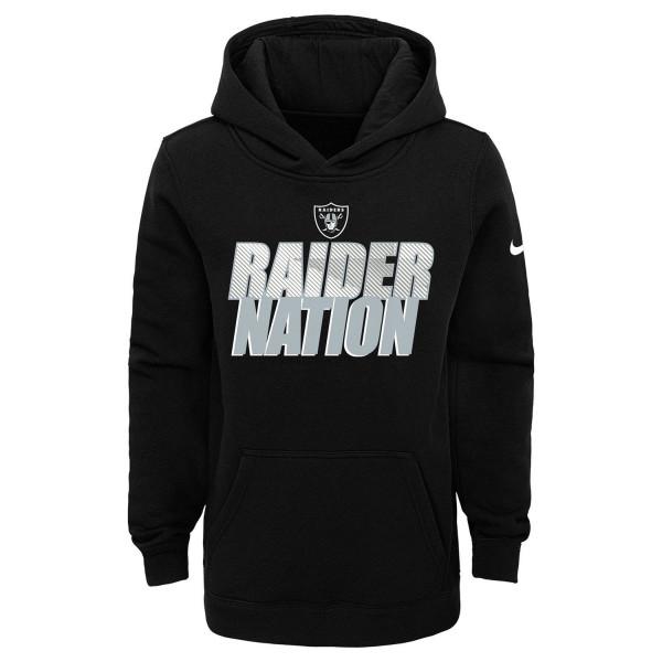 Las Vegas Raiders Youth 2020 NFL Local Nike Club Hoodie (KINDER)