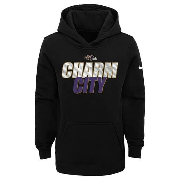Baltimore Ravens Youth 2020 NFL Local Nike Club Hoodie (KINDER)