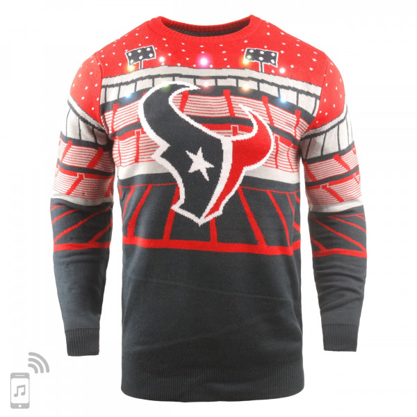 Houston Texans Light Up Bluetooth NFL Ugly Holiday Sweater
