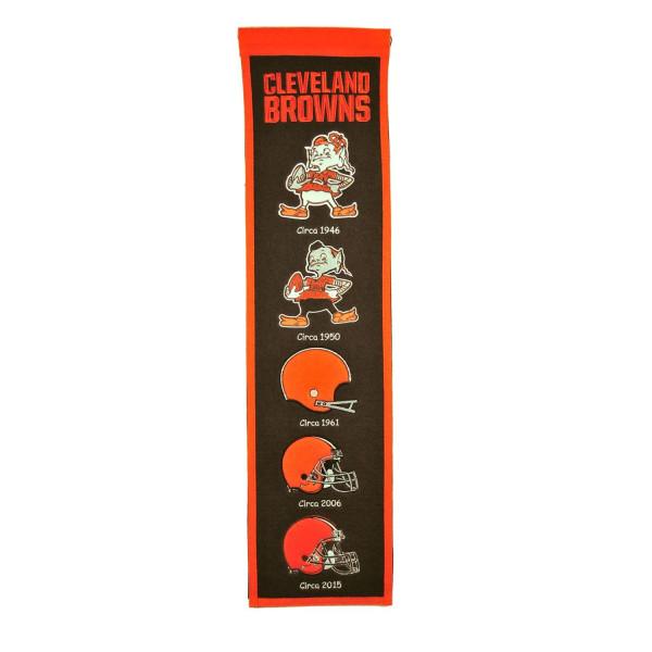 Cleveland Browns NFL Premium Heritage Banner