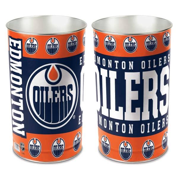 Edmonton Oilers Metall NHL Papierkorb
