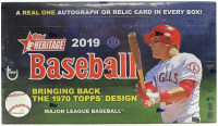 2019 Topps Heritage Baseball Hobby Box MLB