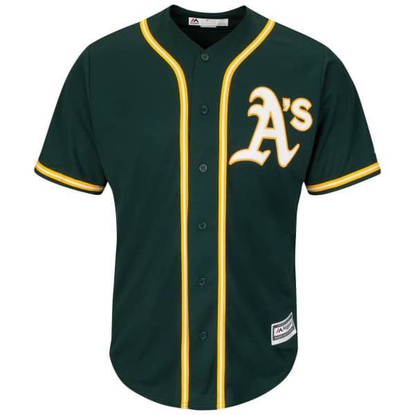 adf26c274 Majestic Oakland Athletics Cool Base MLB Jersey Alternate Green ...