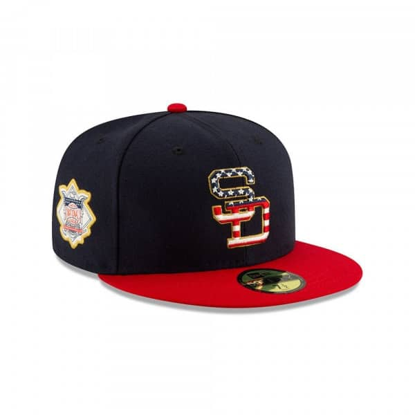 San Diego Padres 4th of July 2019 59FIFTY Fitted MLB Cap