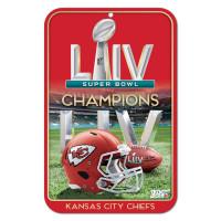 Kansas City Chiefs Super Bowl LIV Champions NFL Schild