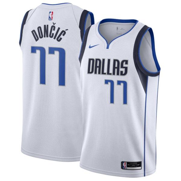 Luka Dončić #77 Dallas Mavericks Nike Association Swingman NBA Trikot Weiß
