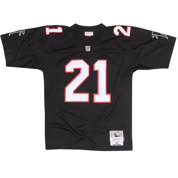 reputable site 97c89 09097 Deion Sanders #21 Atlanta Falcons Legacy Throwback NFL Jersey Black