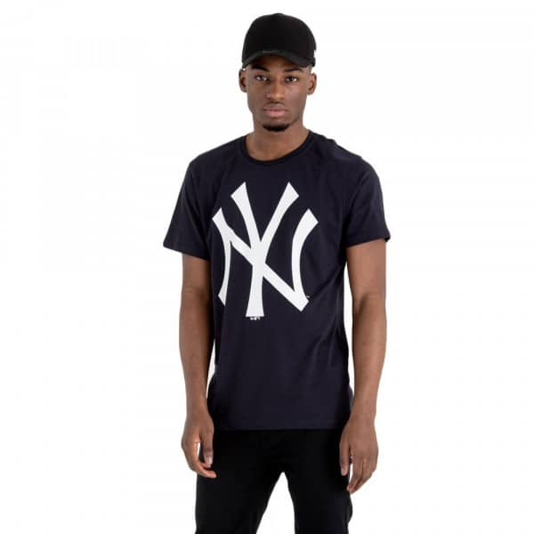 New York Yankees Team Logo Baseball MLB T-Shirt Navy